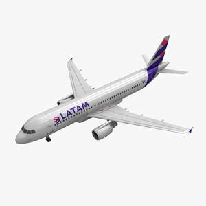 airbus a320 latam airlines 3ds