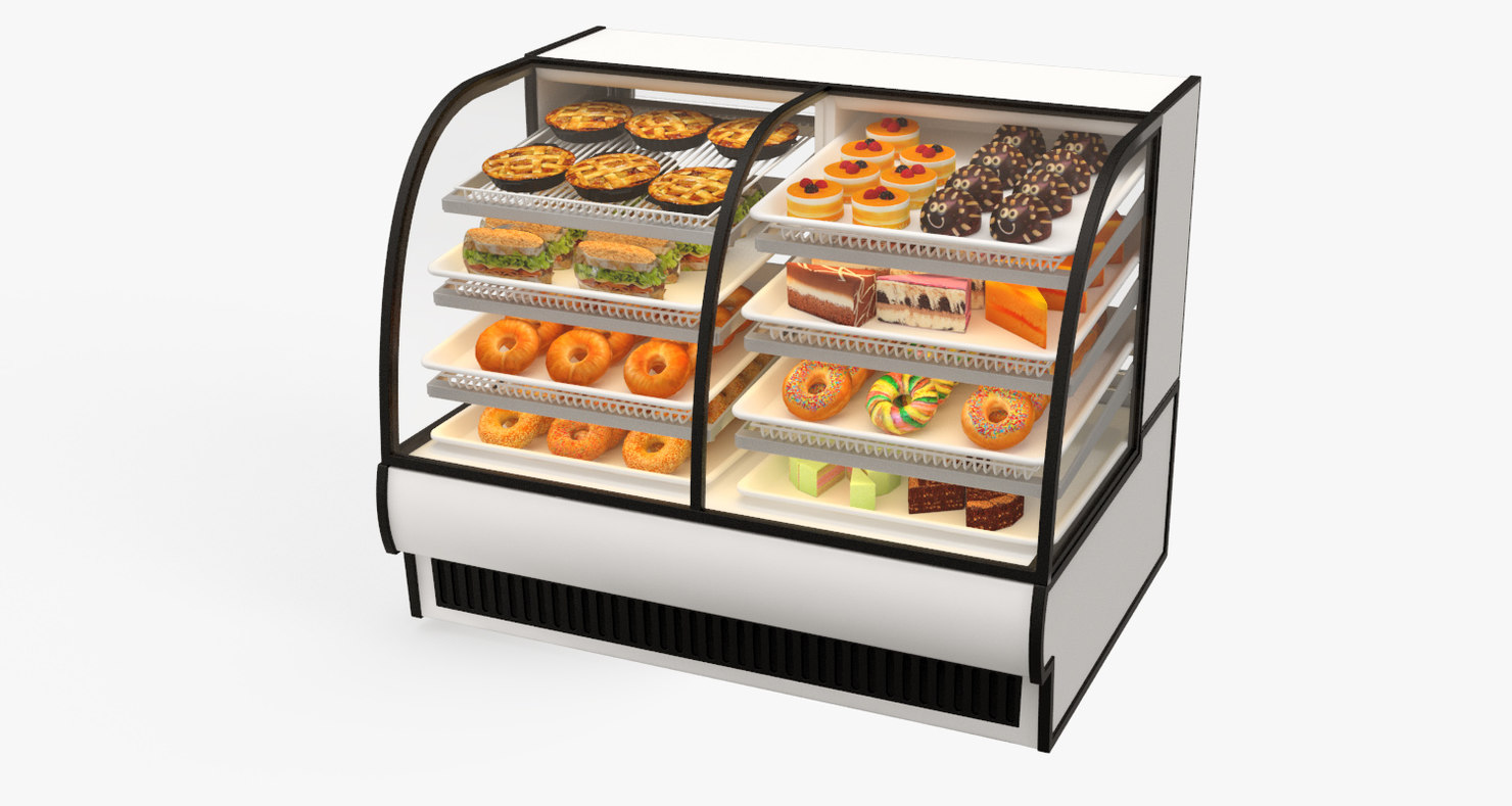 3d refrigerated food -