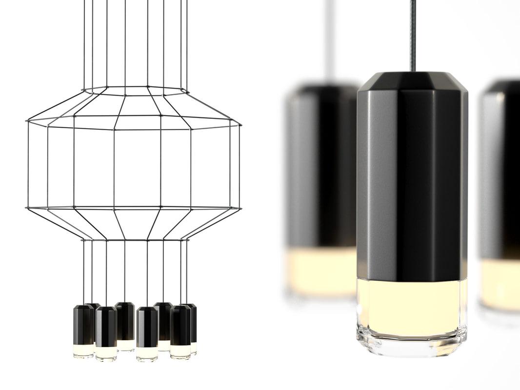 wireflow pendant lights 3d model