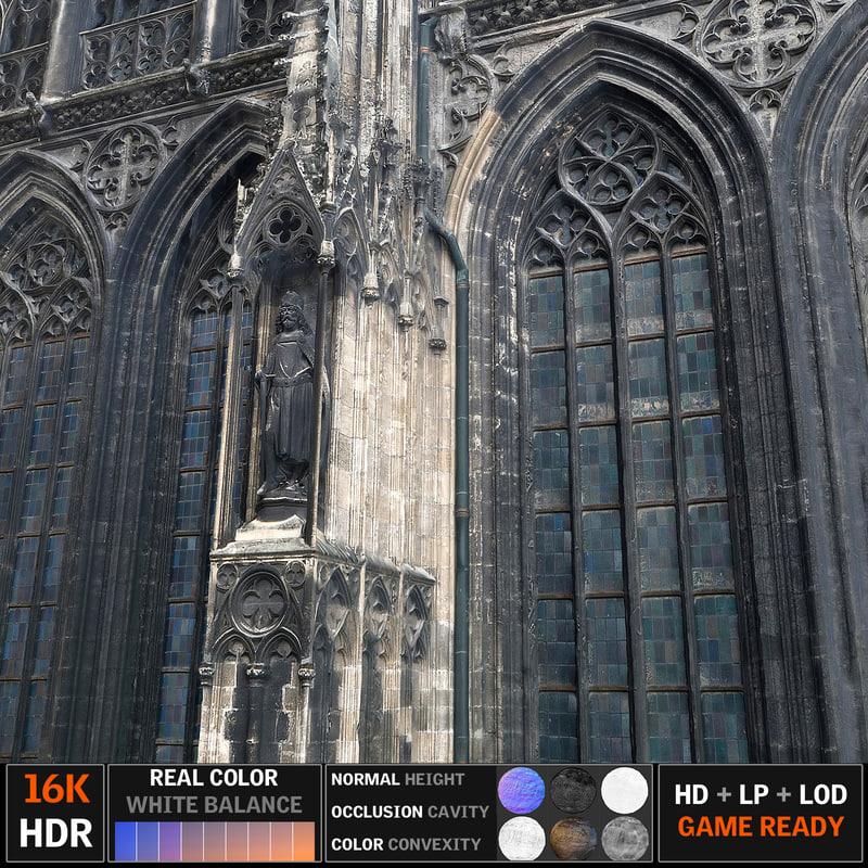 gothic architecture 3d obj