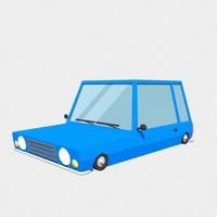 blue car 3d max