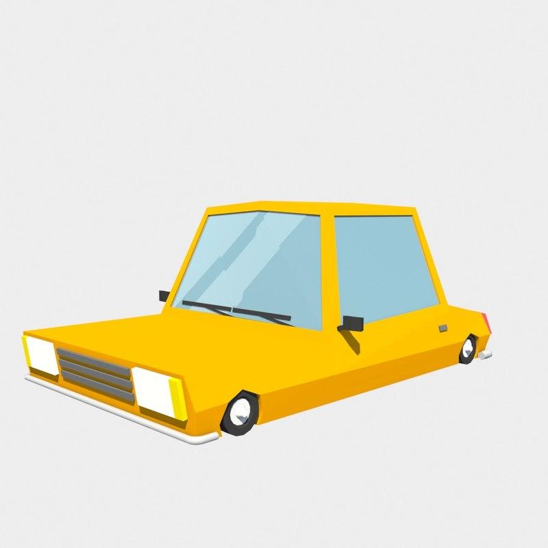 car orange 3d model
