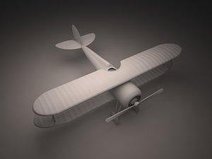 3d nieuport 28 fighter plane