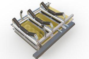 underground conveyor belt mining 3d model