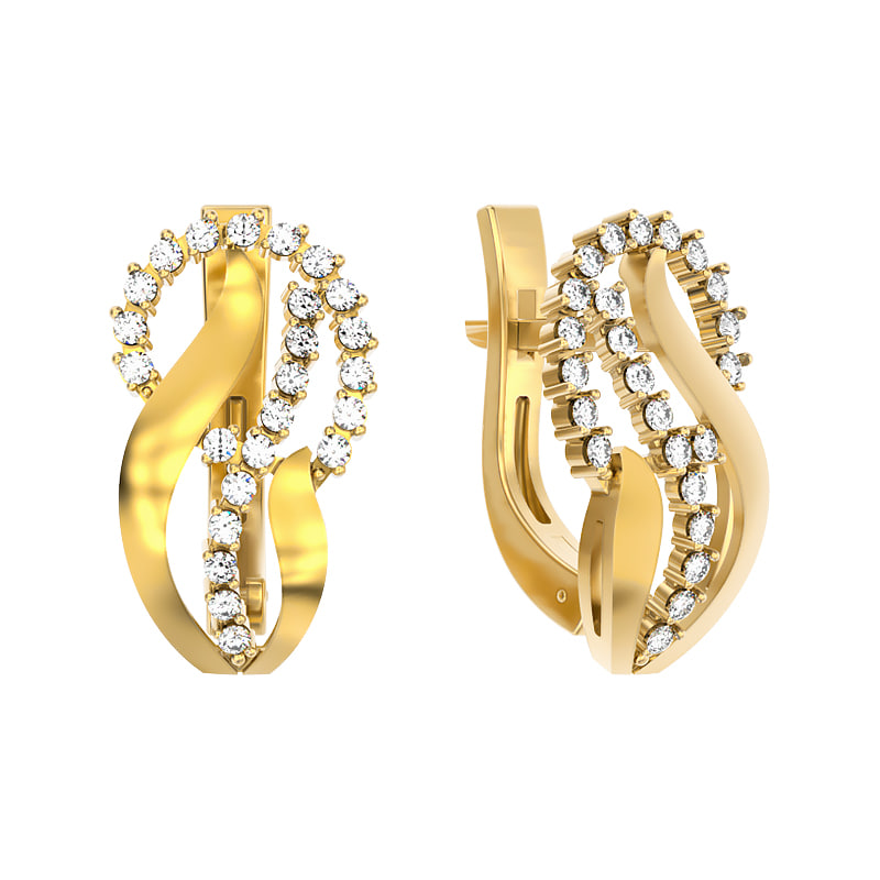 3ds jewelry earrings lightweight
