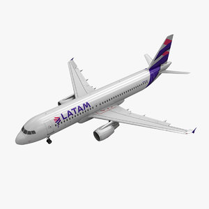 3d model of airbus a320 latam airlines