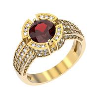 jewelry ring gemstone 3ds