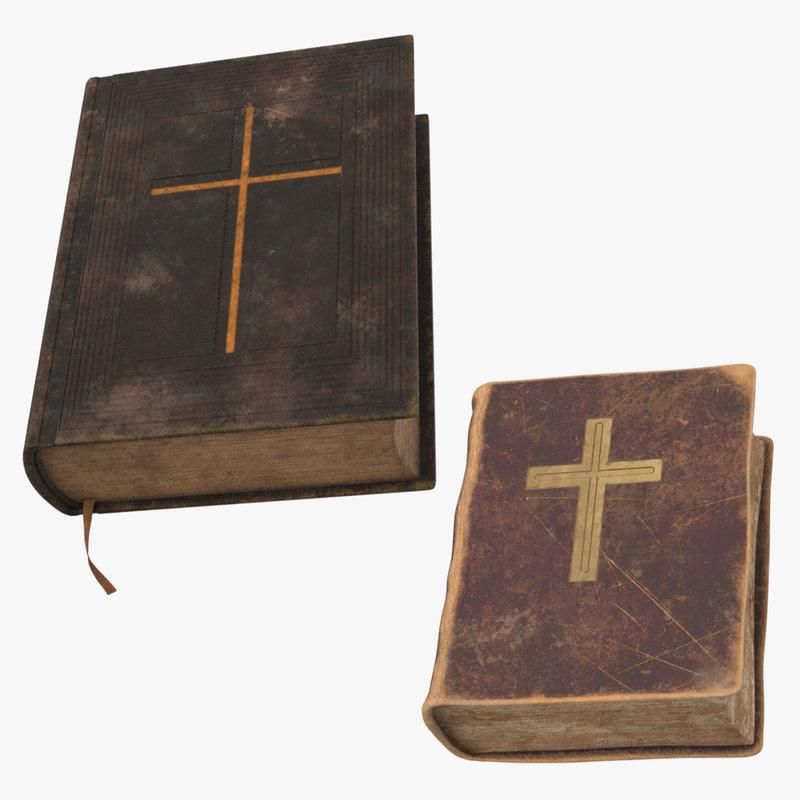 vintage bibles 3d max