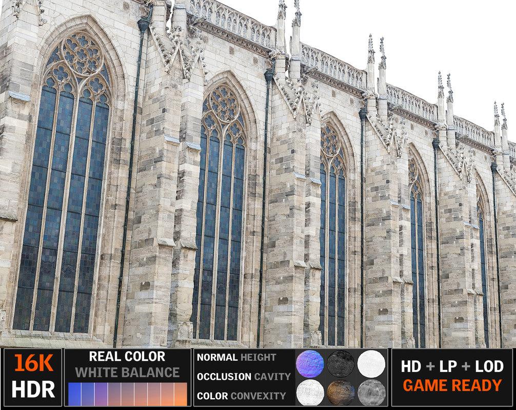 gothic architecture 3d model