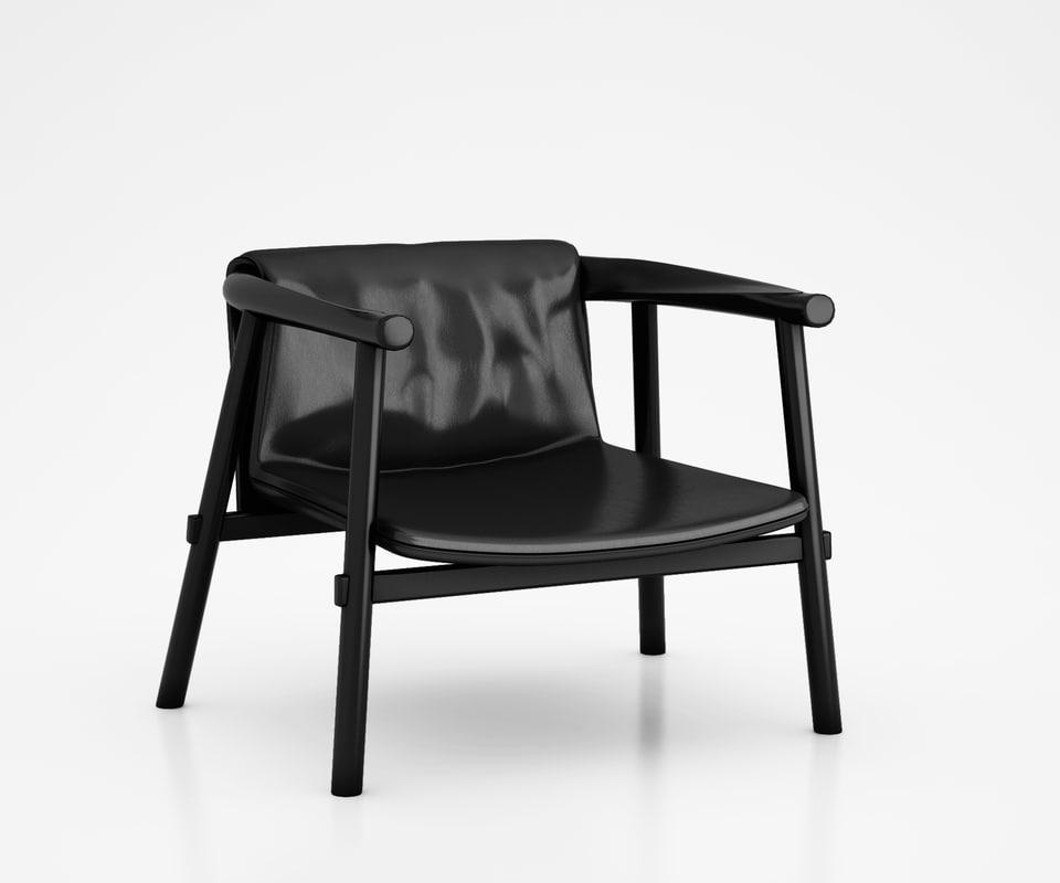 3d altay leather armchair