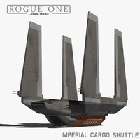 3d imperial cargo shuttle model