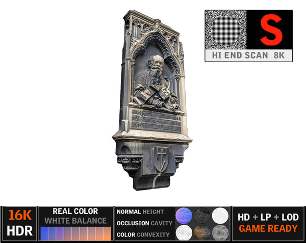 3d gothic architecture 8k model