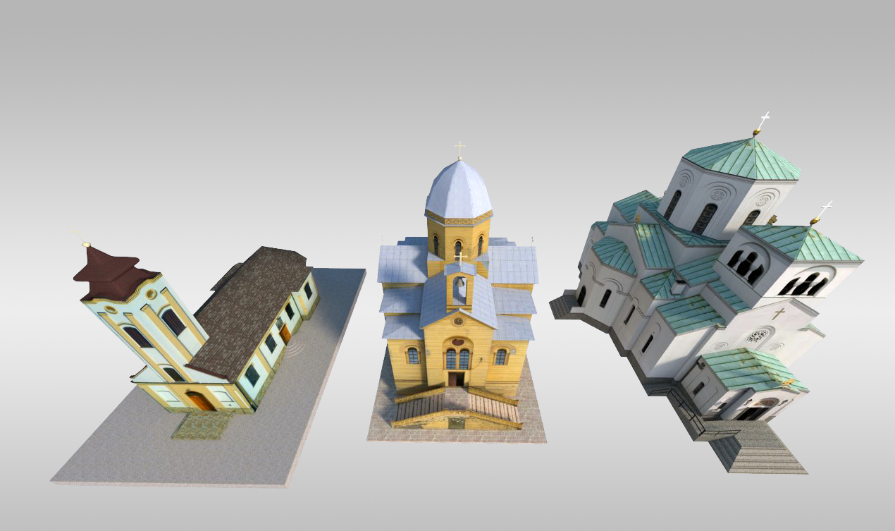 3d model small churches