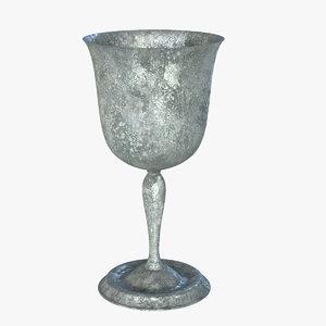 3d model vintage goblet