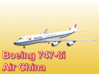 boeing 747-8i air china 3d obj