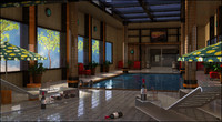 3d model pool interior swimming