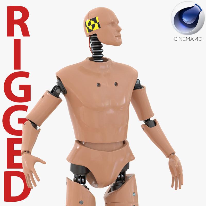 male crash test dummy 3d c4d