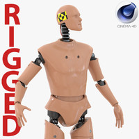 Male Crash Test Dummy Rigged for Cinema 4D