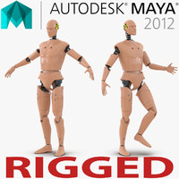 male crash test dummy 3d model