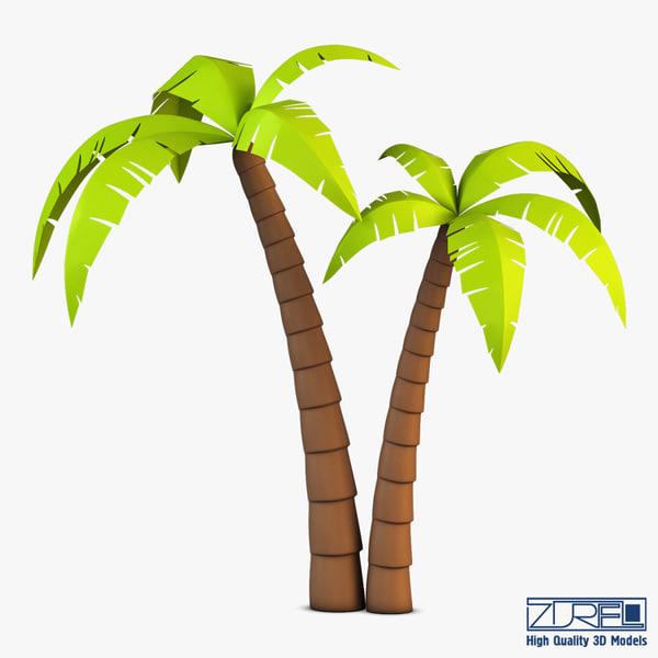 3d obj palm tree v 4
