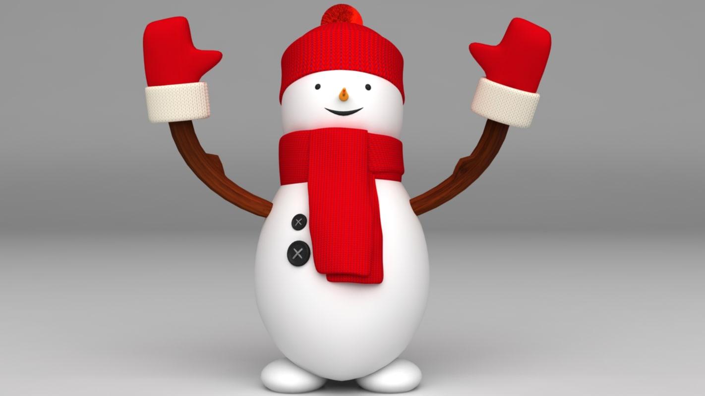 3d snowman christmas new