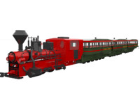 steam train engine 3d max