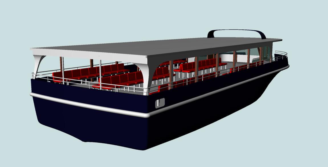 passenger ship 3d dwg