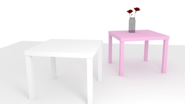 3d table rose