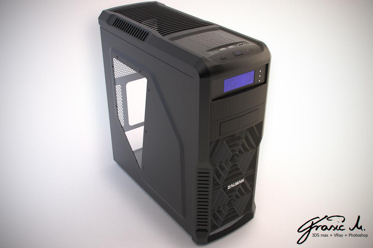 pc desktop zalman 3d model