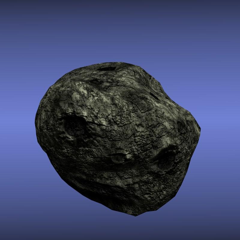 asteroid 3d obj