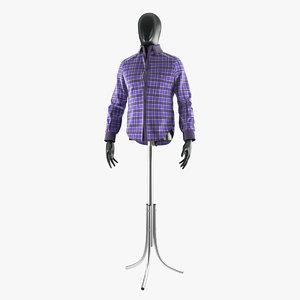 3d plaid shirt mannequin model