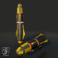 3d model military missile