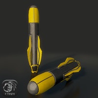 military missile 3d model