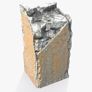 broken concrete pillar 3d 3ds