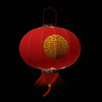 3d model chinese red lantern