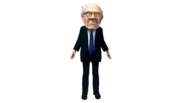 3d caricature bernie sanders model