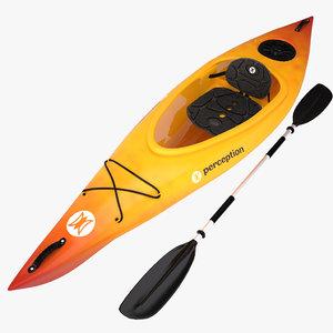 3d model kayak perception v2