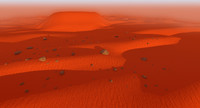 mars landscape terrain 3d model