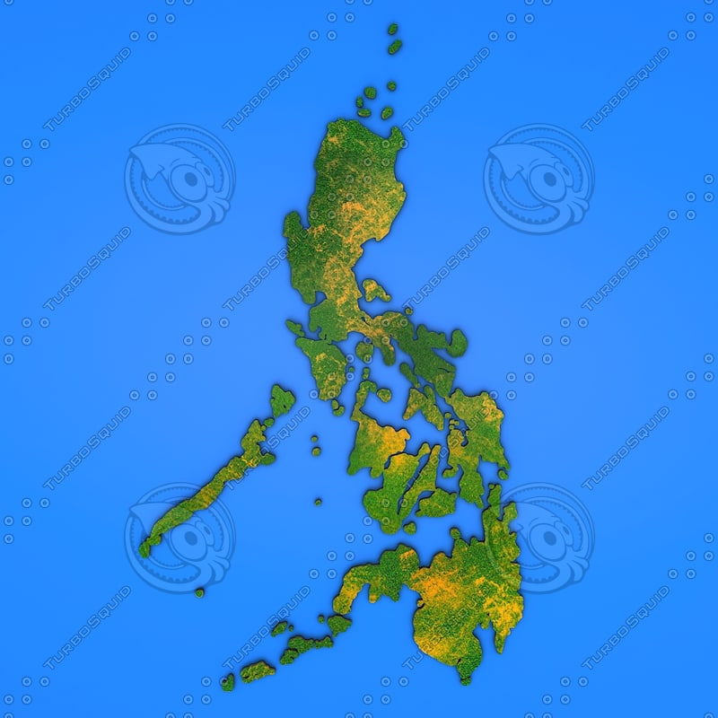 3d philippines country model