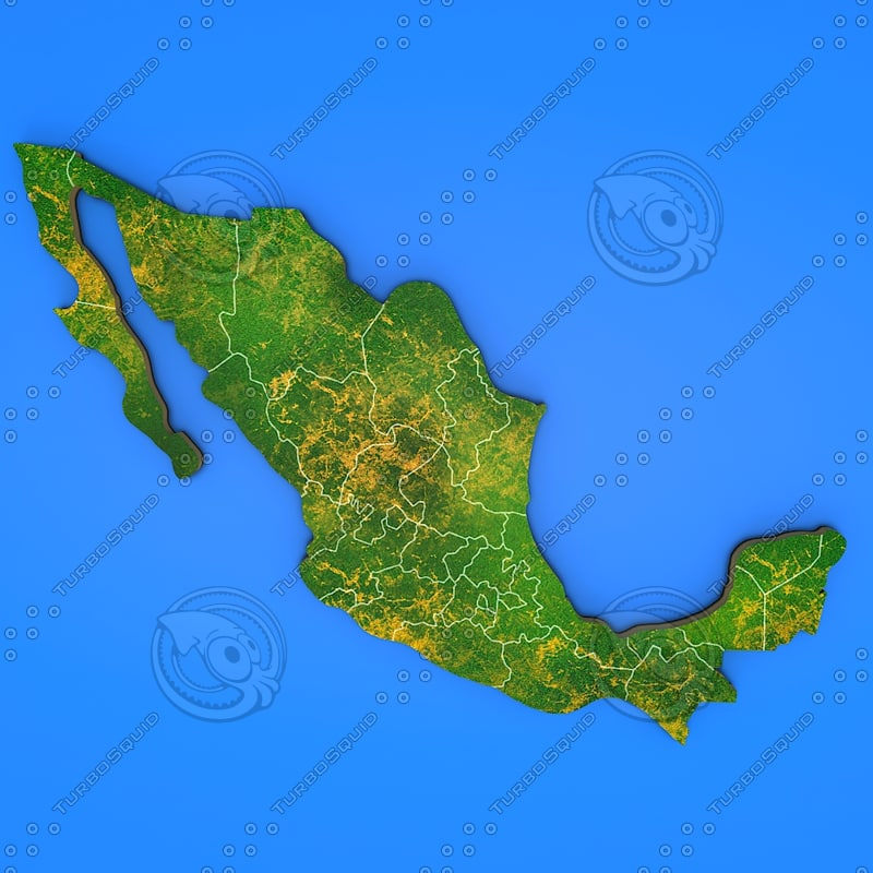 3d mexico country