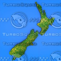 3d model new zealand country