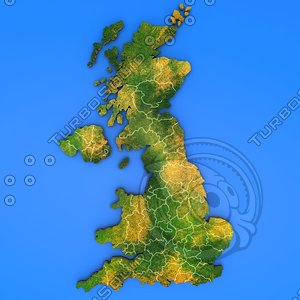 3d model united kingdom country