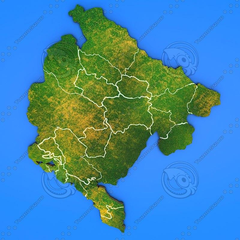 3d montenegro country model