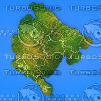 3d montenegro country model