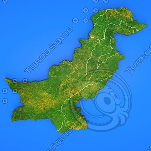 pakistan country 3d obj