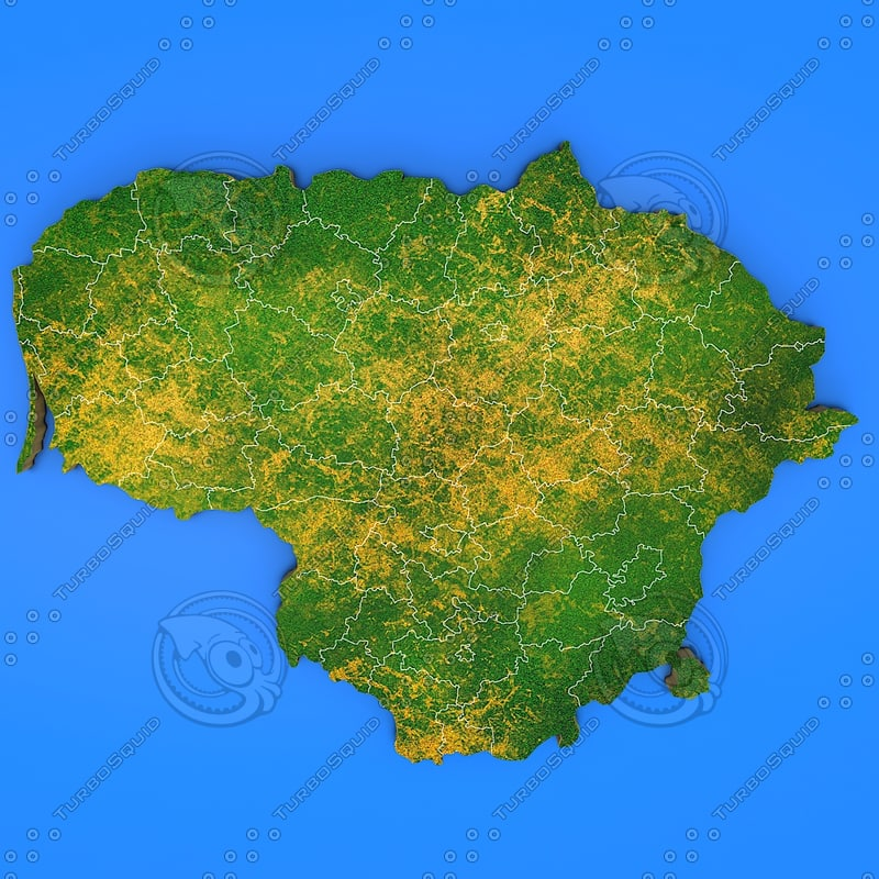 3d lithuania country