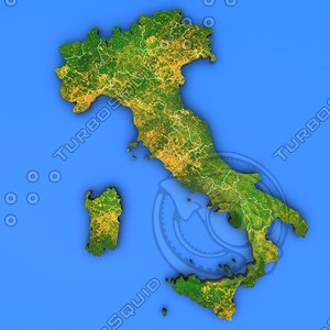 3d model italy country
