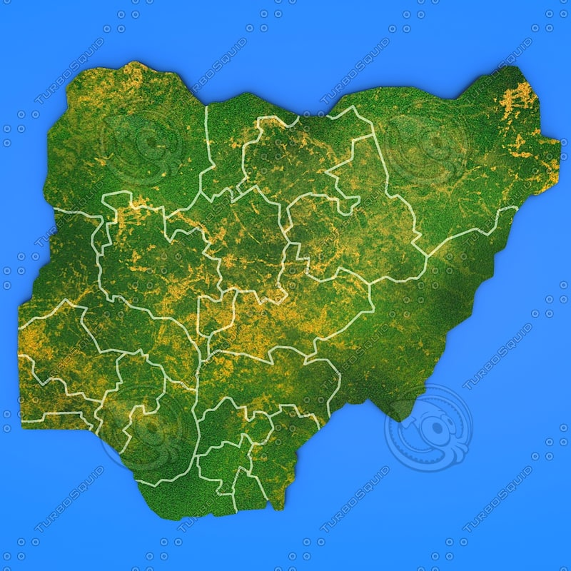 3d model nigeria country