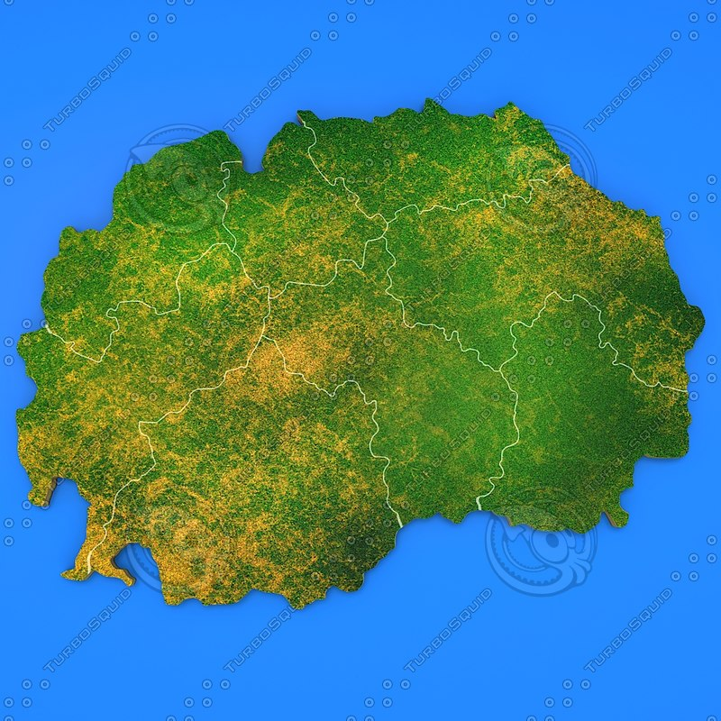 macedonia country 3d model