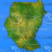 sudan country 3d model